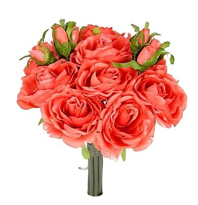 AdmiredbyNature 11 Stems Artificial Rose Bouquet; Dark