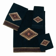 Avanti Linens Mojave 4 Piece Towel Set; Black