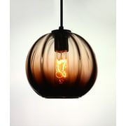 Viz Glass Vintage 1-Light Globe Pendant
