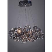 Viz Glass Infinity 5-Light Cluster Pendant; Metallic Silver