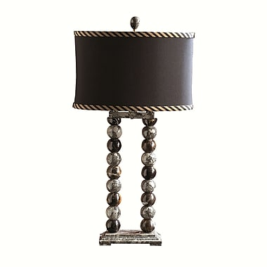 Rembrandt Home Taupe Gray and Espresso 29'' Table Lamp
