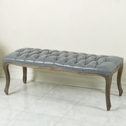 Home Loft Concepts Connor Leather Entryway Bench