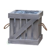 Quickway Imports Crate Solid Wood Planter Box
