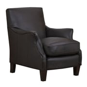GraftonHome Emily Dark Brown Bonded Leather Club Chair