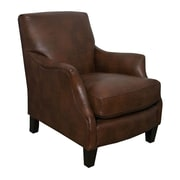 GraftonHome Emily Brown Bonded Leather Club Chair
