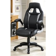 Hokku Designs Street Racer Desk Chair; Silver