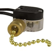 Gardner Bender Plated Pull Chain Switch; Brass Plated