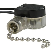 Gardner Bender Plated Pull Chain Switch; Nickel Plated
