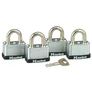 Master Lock No. 22 Warded Laminated Padlocks (Set of 4)