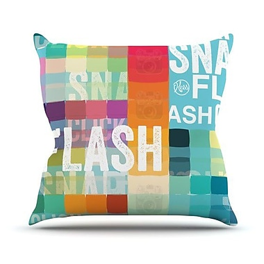 KESS InHouse Flash Throw Pillow; 18'' H x 18'' W x 4.1'' D