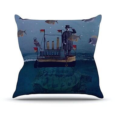 KESS InHouse The Voyage Throw Pillow; 18'' H x 18'' W