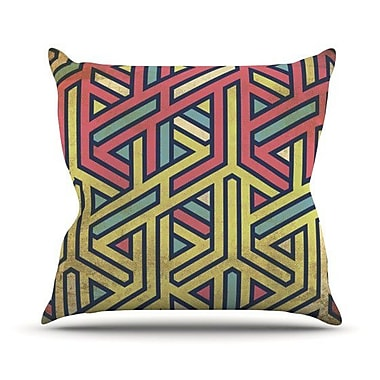 KESS InHouse Deco Throw Pillow; 18'' H x 18'' W x 4.1'' D