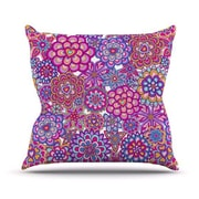 KESS InHouse My Happy Flowers Throw Pillow; 20'' H x 20'' W 4.5'' D