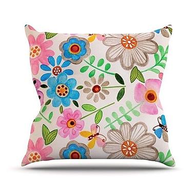 KESS InHouse The Garden Throw Pillow; 18'' H x 18'' W