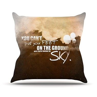 KESS InHouse Touch The Sky Throw Pillow; 18'' H x 18'' W