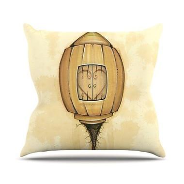 KESS InHouse Her Throw Pillow; 26'' H x 26'' W