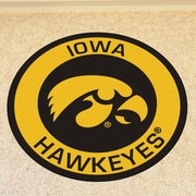 FANMATS NCAA University of Iowa Roundel Mat