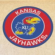 FANMATS NCAA University of Kansas Roundel Mat