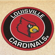 FANMATS NCAA University of Louisville Roundel Mat
