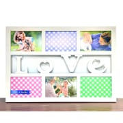 BestBuy Frames Love White 6 Photo Opening Collage Picture Frame