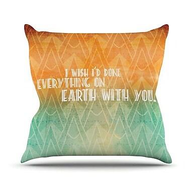 KESS InHouse Deco II Throw Pillow; 18'' H x 18'' W x 4.1'' D