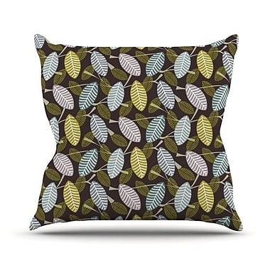 KESS InHouse Moss Canopy Throw Pillow; 20'' H x 20'' W 4.5'' D