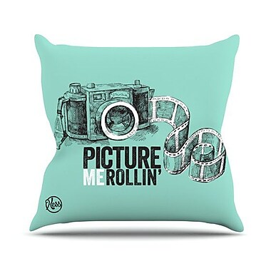 KESS InHouse Picture Me Rollin Throw Pillow; 20'' H x 20'' W