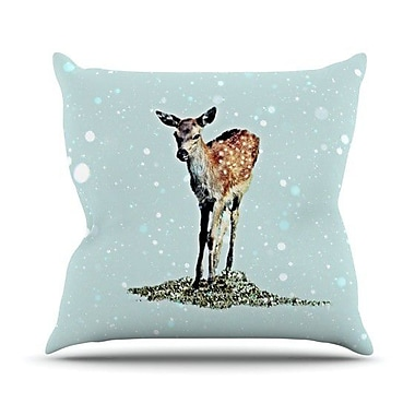 KESS InHouse Fawn Throw Pillow; 20'' H x 20'' W