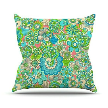 KESS InHouse Welcome Birds To My Garden Throw Pillow; 20'' H x 20'' W 4.5'' D