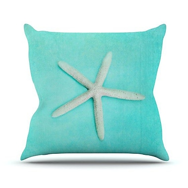 KESS InHouse Starfish Throw Pillow; 26'' H x 26'' W