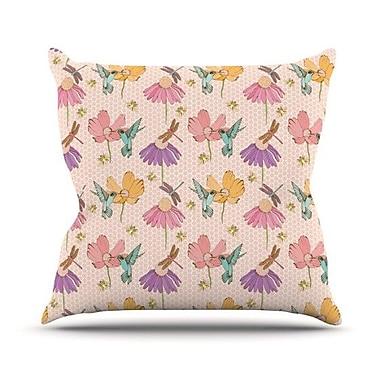 KESS InHouse Magic Garden Throw Pillow; 26'' H x 26'' W