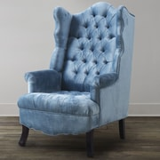 TOV Madison Wing Chair; Blue