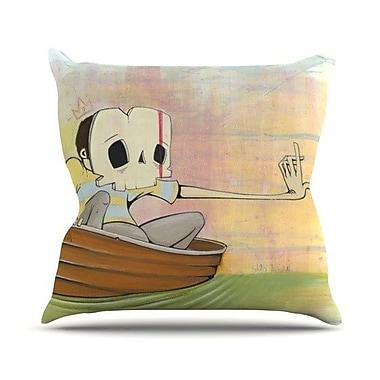 KESS InHouse Drifting Throw Pillow; 26'' H x 26'' W