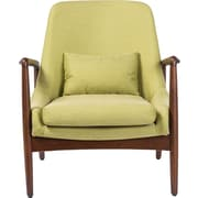 Wholesale Interiors Baxton Studio Carter Mid-Century Modern Upholstered Leisure Arm Chair; Green