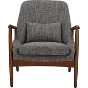 Wholesale Interiors Baxton Studio Carter Mid-Century Modern Upholstered Leisure Arm Chair; Grey