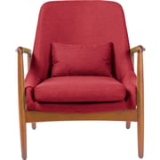 Wholesale Interiors Baxton Studio Carter Mid-Century Modern Upholstered Leisure Arm Chair; Red