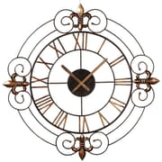 CBK Toscana 34'' Scroll Fleur de Lis Wall Clock