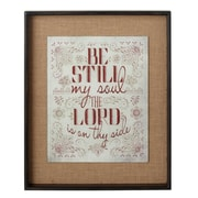 CBK For the Soul ''Be Still My Soul'' Framed Textual Art