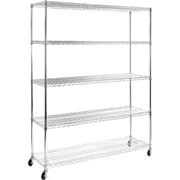 Seville Classics 18'' Deep 5 Shelf Steel Wire Shelving System