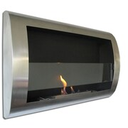 Chic Fireplaces Charleston Wall Mounted Bio Ethanol Fuel Fireplace; Brushed Stainless Steel