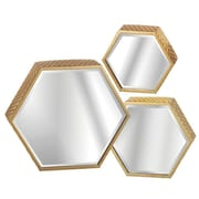 CBK Toscana 3 Piece Honeycomb Wall Mirror Set