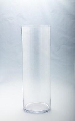 Diamond Star Glass Cylinder Vase; 23.5'' H x 8'' W x 8'' D WYF078278844956