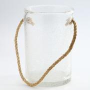 Diamond Star Glass Vase; 13'' H