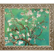 Tori Home Branches of An Almond Tree in Blossom, Jade Framed Hand Painted