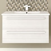 Cutler Kitchen & Bath Silhouette 30'' Wall Hung Vanity Set; White Chocolate
