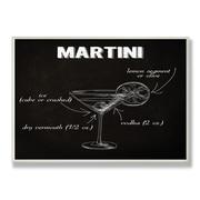 Stupell Industries Classic Martini Chalkboard-Look Textual Art Wall Plaque