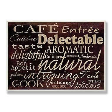 Stupell Industries Caf Entr e Textual Art Wall Plaque