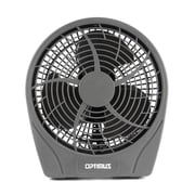 "Optimus 3-Speed 9"" Stylish Personal Fan, Silver"