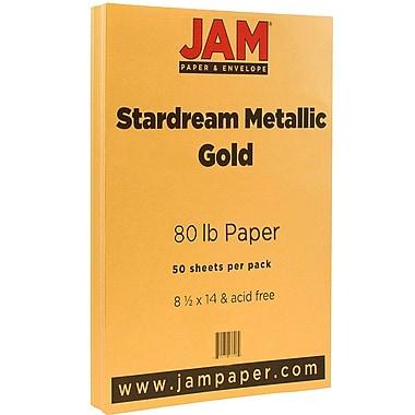 JamMD Stardream 80 lb. Papier métallique, 8 1/2 x 14 po, or, 50 feuilles/paquet