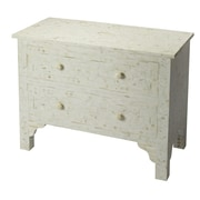 Butler Vivienne 2 Drawer Chest; White Bone Inlay